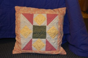 Hand Quilted Pillow Case