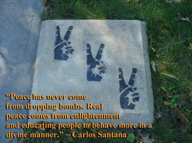 Peace has never come from dropping bombs