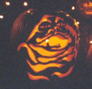 Choosing the Perfect Pumpkin - Jabba the Hutt