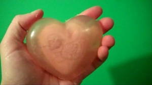 Double Heart Valentine Soap Bar
