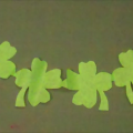 crafts for kids - easy shamrock garland