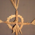 Wheat Weaving Tutorial: Celtic Cross