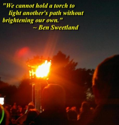 We cannot hold a torch