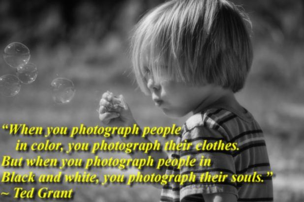 When you photograph people