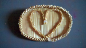 Wheat Weaving Tutorial: Love Brooch