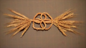 Wheat Weaving Tutorial: Round About Knot