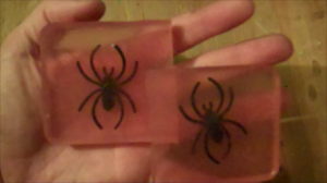 How to Make Halloween Spider Soaps