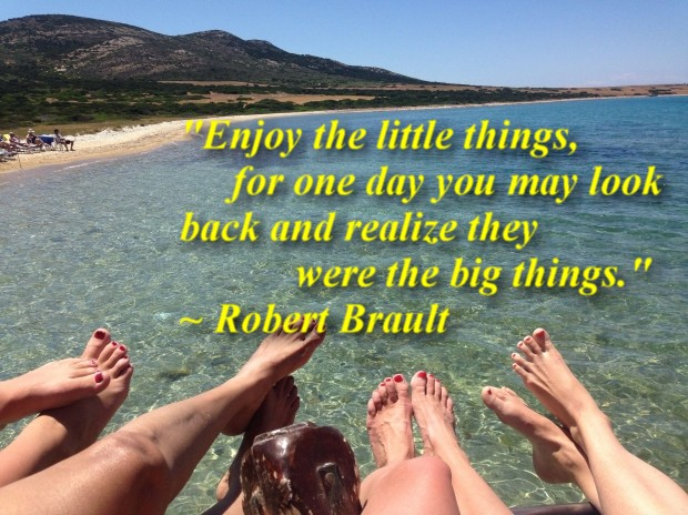 """""""Enjoy the little things, for one day you may look back and realize they were the big things."""" ~ Robert Brault"""
