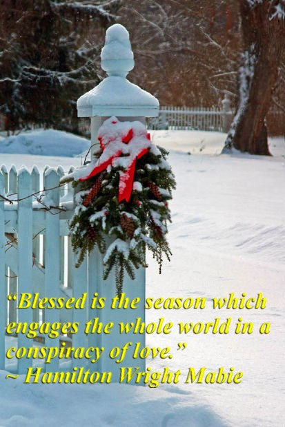 """""""Blessed is the season which engages the whole world in a conspiracy of love."""" ~ Hamilton Wright Mabie"""