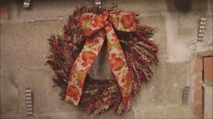 How to Make a Broom Corn Wreath