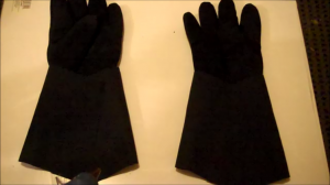Darth Vader Costume Tutorial Part 6: Gloves and Shin Guards