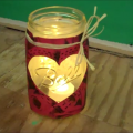 Mason Jar Valentine Votives Craft