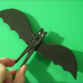 Crafts for Kids - Quick and Easy DIY Halloween Bat Clothespins