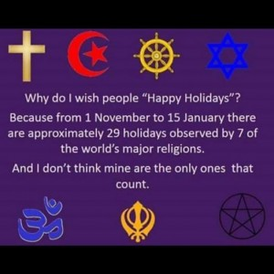 Is saying Happy Holidays an Attack on Christmas?
