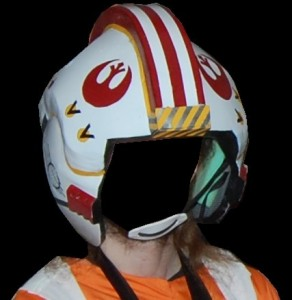 DIY Luke Skywalker Costume (x-wing pilot): Helmet
