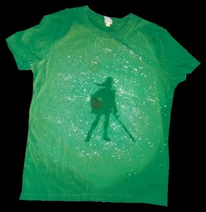 DIY Reverse Silhouette Shirt - Link, Legend of Zelda