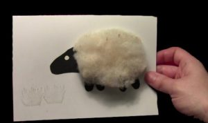 Easy DIY Wooly Sheep Card