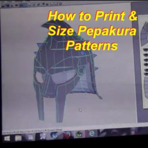 How to Size and Print Pepakura Patterns