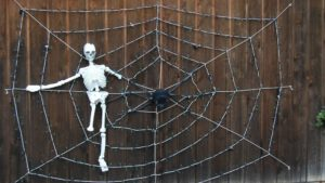 DIY Giant Halloween Spider Web