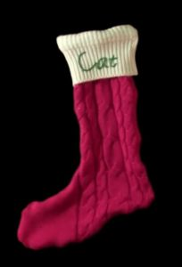 DIY Christmas Stocking from Upcycled Sweaters