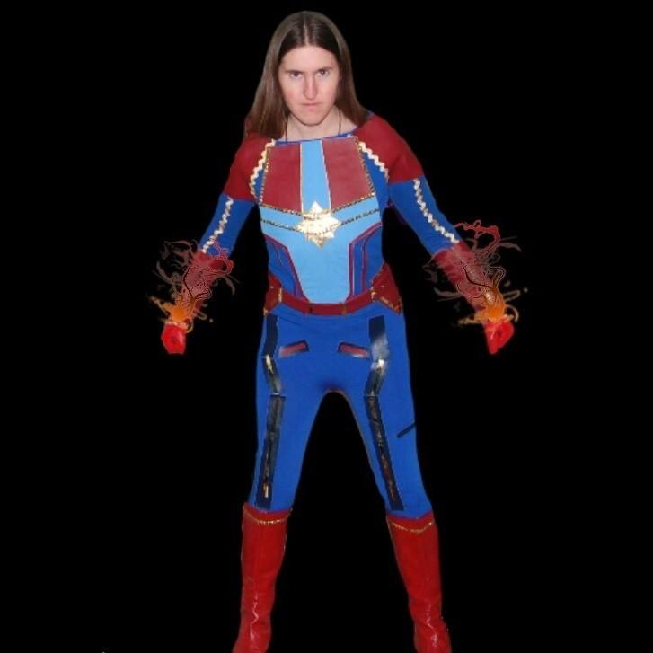 Captain Marvel Part 2 Belt Pants Boots The Woodland Elf Avengers endgame child's captain america costume & mask. captain marvel part 2 belt pants